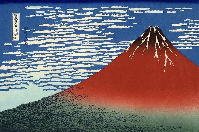 Bản khắc gỗ South Wind, Clear Sky của Hokusai thế kỷ 19