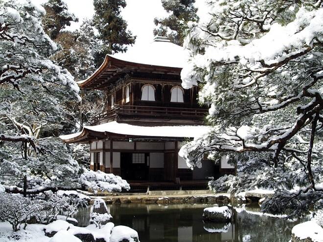 Ginkaku-ji vào mùa đông