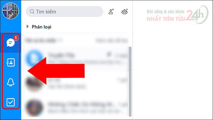 Nhóm công cụ nhắn tin trong Zalo Web
