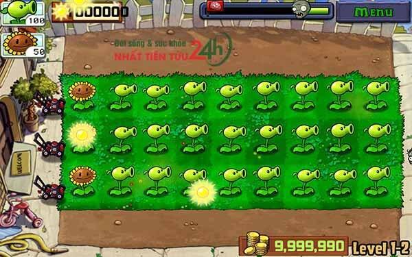 hack mặt tr�i plant vs zombie