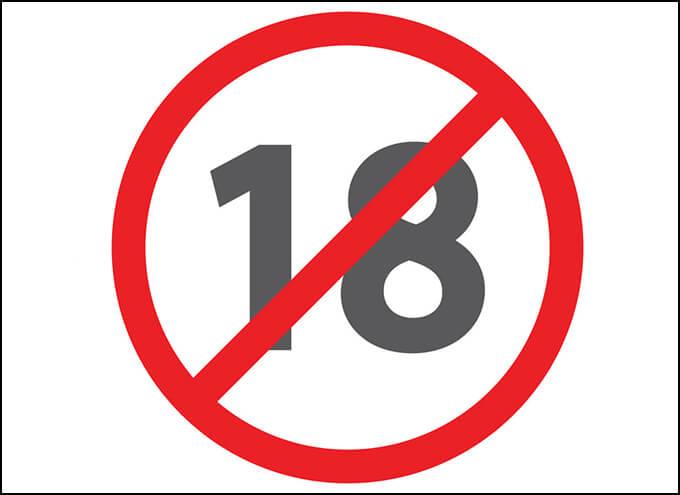 Nghiêm cấm ngư�i dưới 18 tuổi