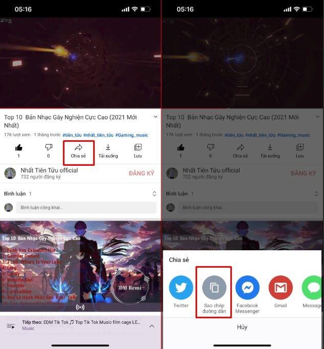 Hướng dẫn cách tải nhạc từ Youtube về điện thoại 1