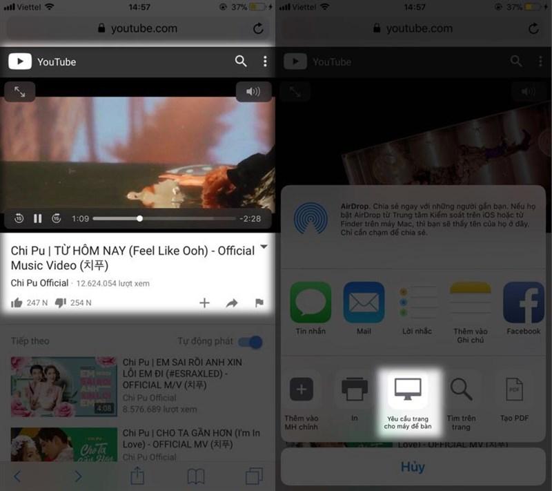 cách nghe nhạc trên youtube khi tắt màn hình 2